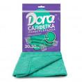 Салфетка из микрофибры DORA 30*30 см (1 шт) универсальная без рисунка