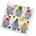 Салфетки BOUGUET DE LUXE 25 шт 3 слоя Сладкие пирожные 37100