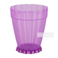 Горшок ФАНТАСТИКА 3 л для орхидей прозр-фиолетовый М6798