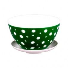 Горшок для кактусов М4569 0.5 л бело-зеленый