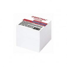 Блок для записей ОФИСМАГ непроклеенный 9х9х9 см белый 123019
