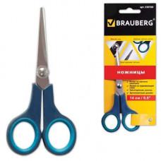 Ножницы BRAUBERG 14 см soft grip 230760