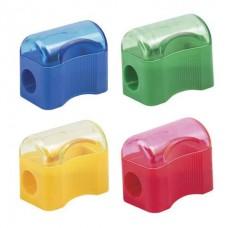 Точилка для карандашей ПИФАГОР с контейнером пластиковая СУНДУЧОУ 226938