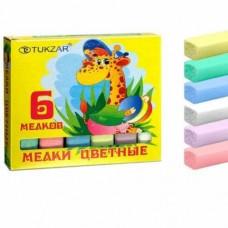 Мел школьный цветной 6 шт ПИФАГОР 221979