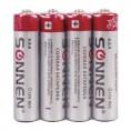 Батарейка МИЗИНЧИКОВАЯ SONNEN солевые (R03) 451098
