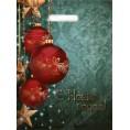 Пакет ПЭВД Красные шара 30*40 см с петлявой ручкой