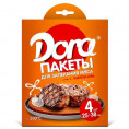 Пакет ДЛЯ ЗАПЕКАНИЯ DORA 25*38 (4шт) с завязк для мяса