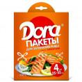 Пакет ДЛЯ ЗАПЕКАНИЯ DORA 25*55 (4шт) с завязк для рыбы