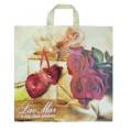 Пакет ПЕТЛЯ подарок с розами 40*39 см