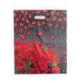 Пакет С ПРОРЕЗНОЙ РУЧКОЙ 37*44 красные розы